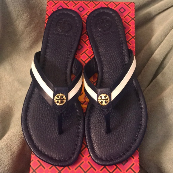 df34c06c172 Tory Burch Maritime Thong Navy Sea   White 6.5
